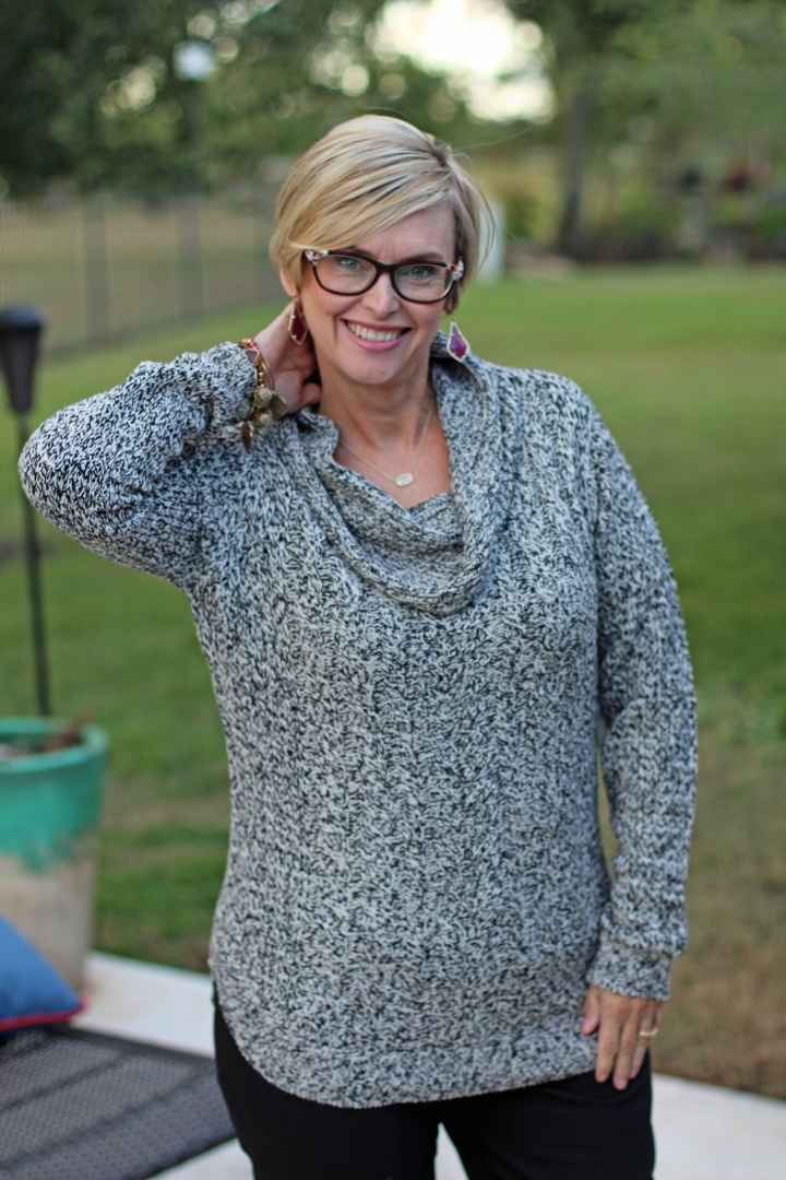 RD Style Harriette Cowl Neck Sweater