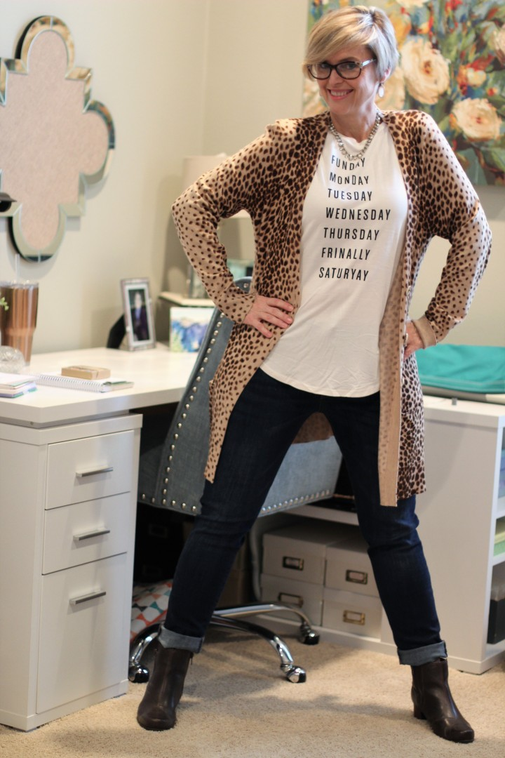 How to style a leopard cardigan