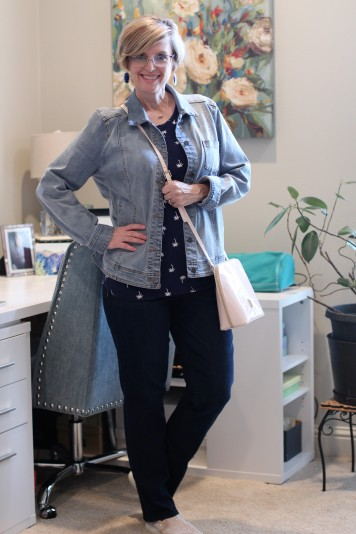 Denim jacket & Dark Wash Jeans